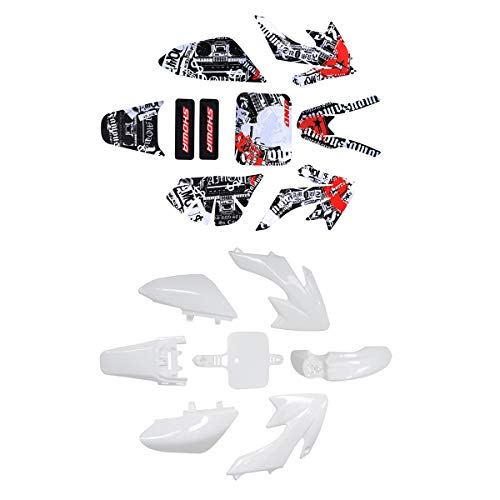 ZXTDR Plastic Fairing Kit Body Fender and Graphic Sticker For CRF XR XR50 CRF50 110cc 125cc Pit Dirt Bike