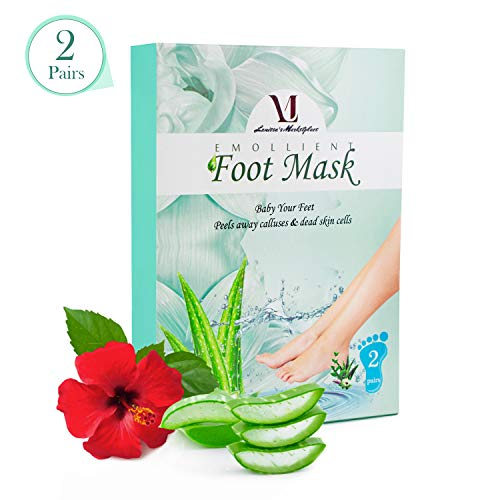 Foot Peel Mask for Baby Soft Feet Aloe Vera Extract - Dry Dead Skin, Rough Heels, Callus Remover - Exfoliating Peeling Gel Socks Booties Leaves your Feet Smooth & Soft touch 2 Treatments Pedicure Spa! (Homemade Foot Scrub For Dry Cracked Feet)