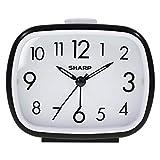 Sharp Retro Style Analog Alarm Clock - Battery Operated - Easy to Read