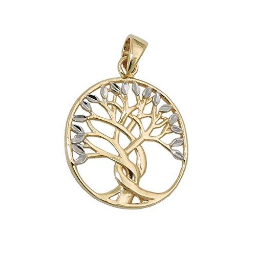 Pendant, Lebensbaum bicolor, 9Kt GOLD