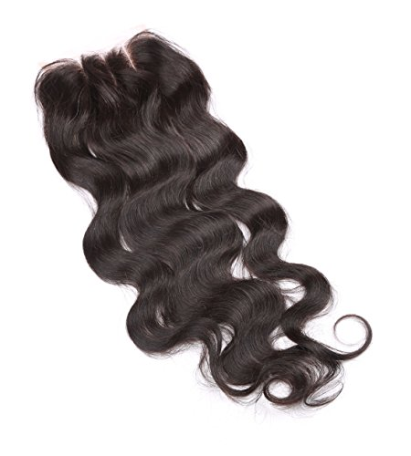 Fennell 3 Part Closure Body Wave Virgin Brazilian Hair 130% Density Lace Closure Natural Hair Color Soft and Silky(8''-20'') (8 inches) by Fennell (Image #5)