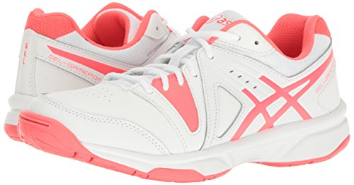 M Pink Shoe US Gel Diva Gamepoint White 5 ASICS Tennis Women's 6q6zf