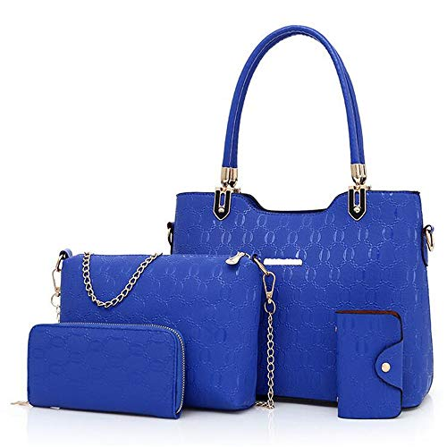 Multi Style LANGUANGLIN à Blue EuropéEnne Main Mode BandoulièRe en Portable éPaule Relief Quatre Sac Blue PièCes en Simple à Sac Sac AméRicaine nyAn0B