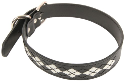 Puppia Trinity Leather Collar, Black, Medium