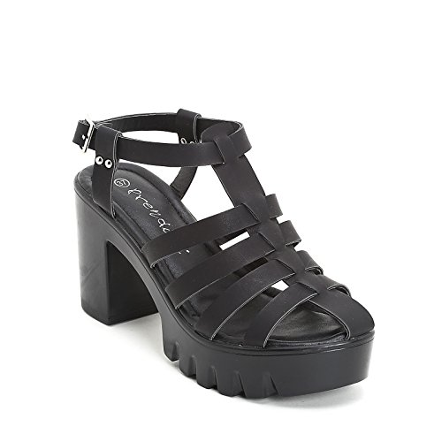 PRENDIMI by Scarpe&Scarpe - Sandalias altas en jaula, con Tacones 9 cm Negro