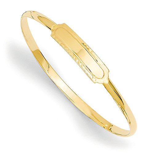 14K Yellow Gold Slip-on 5.5'' Baby ID Bangle Bracelet by Jewelry Pilot