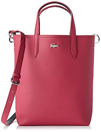 Lacoste - Anna, Shoppers y bolsos de hombro Mujer, Rosa (Sangria Phantom), 10x29x22 cm (W x H L)