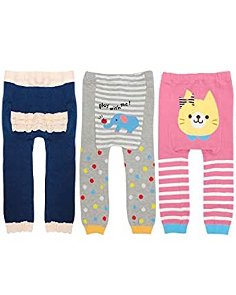 Wrapables Baby & Toddler Fun for All Leggings (Set of 3) - - 90cm (M)