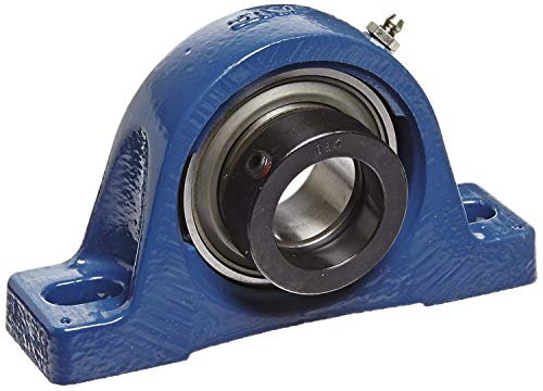 (SKF P2BL 100-FM Pillow Block Ball Bearing, 2 Bolts, Normal Duty, Eccentric Collar, Contact Seals, 1