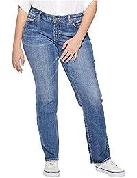 Women's Plus Size Suki Curvy Fit Mid Rise Straight Leg Jeans