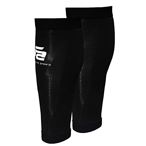 Fit Active Sports Copper Calf Compression Sleeves for Leg Relief, Running, Cross Training Workouts, Knee Pain & More!