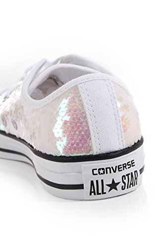 Blanc Star Ox amp; Converse Femme All Metallic Baskets Mode White WYH4q4B5a