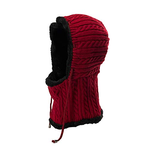 ochet Velvet Thickening Cap Warm Winter Slouchy Siamese Collar ()