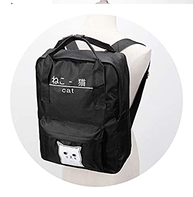 Cat Ring Canvas Women Backpack GirlTeenager Girl