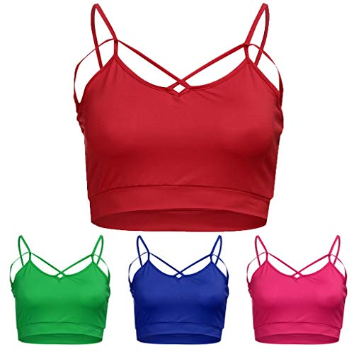 (ALLYOUNG Women's Vest Tops Fashion Casual Summer Solid Color Spaghetti Strap Bustier Tan (Green, XXL))