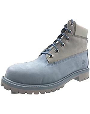 Big Kids Timberland 6 In. Classic Premium Boots (4 D(M) US, Blue/Grey)
