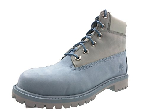 Big Kids Timberland 6 In. Classic Premium Boots (6 D(M) US, Blue/Grey) by Timberland