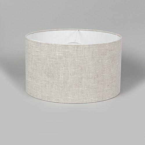 QAZQA Modern Polyester Lampenschirm 35//35//20 zylinder grau-wei/ß Rund gerade Schirm Pendelleuchte,Schirm Stehleuchte