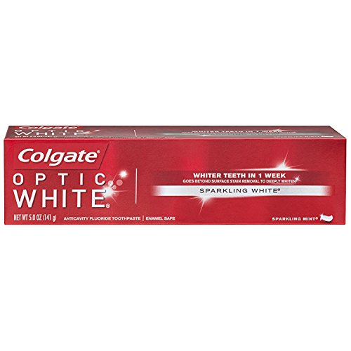 Colgate Optic White Whitening Toothpaste, Sparkling Mint – 5 ounce