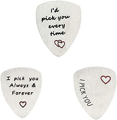 BESPMOSP - Púa de guitarra para el día de San Valentín, diseño con texto en inglés