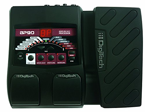 Built In Expression Pedal - Digitech BP90 Bass Multi-FX Processor Guitar Pedal with Expression Pedal and Built in Tuner Pedal Bundle Included Patch Cable and Zorro Sounds Guitar Polishing Cloth