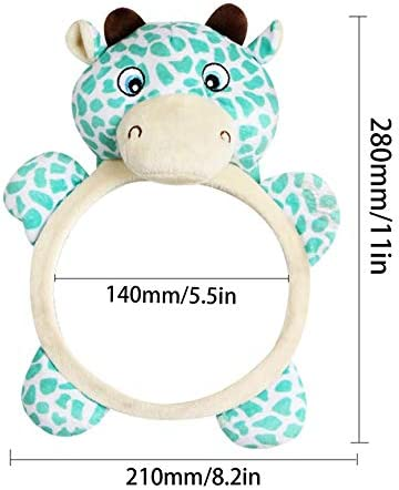 Peanutaoc Funny Kawaii Design Baby Mirror Car Back Seat Cover for Infant Child Kids Rear Ward Safety View Toys Gift
