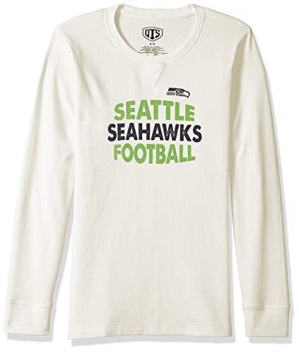 NFL Seattle Seahawks Female NFL OTS long-sleeve Waffle Distressed, Cream, X-Large