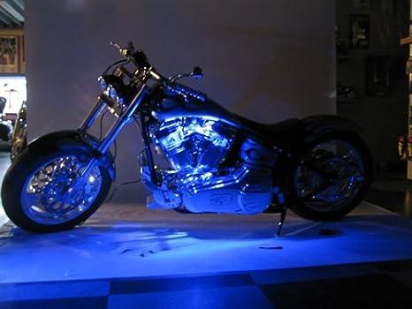 Led Lights For Motorcycle >> Amazon Com Blue Led Neon Motorcycle Lighting Kit Automotive