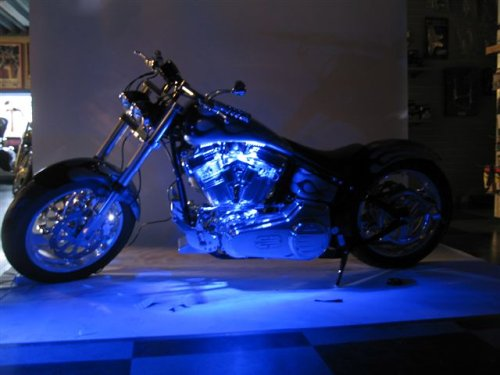 Motorcycle Led Kit >> Amazon Com Blue Led Neon Motorcycle Lighting Kit Automotive