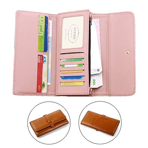 @FATO Universal Three-Folded 10 Card Slots PU Leather Phone Wallet for Phone Under 5.5-inch