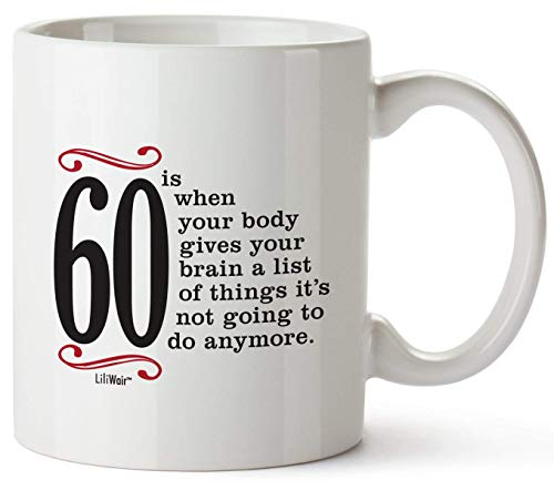 60th Birthday Gifts For Women Sixty Years Old Men Gift Happy Funny 60 Mens Womens Womans Wifes Female Man Best Friend Basket 1958 Male Unique Ideas 58 Woman Wife Gag -