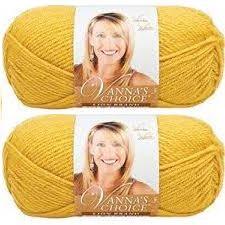 Bulk Buy: Vanna's Choice Lion Brand Yarn (2-pack) (Mustard) -