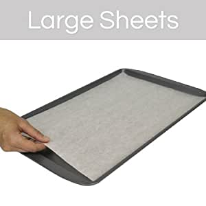 The Smart Baker Large 11 x 17 inches Perfect Parchment Paper - Pre-Cut Parchment Paper Baking Sheets