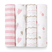 aden + anais Classic Swaddle 4-Pack Heartbreaker