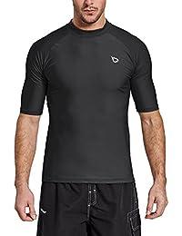 894d5cc1 Men's Short Sleeve Rashguard Swim Shirt UV Sun Protection UPF 50+