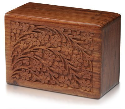 Tree of Life Hand-Carved Rosewood Urn Box