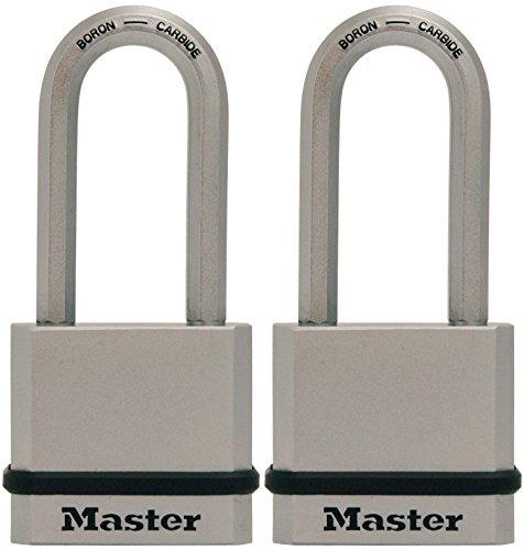 Master Lock Padlock, Magnum Solid Steel Lock, 1-3/4 in. Wide, M530XTLH (Pack of 2-Keyed Alike)
