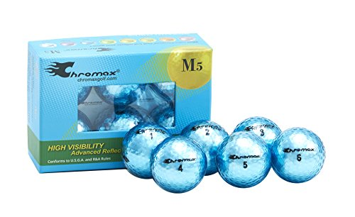 Chromax Metallic M5 Colored Golf Balls (Pack of 6), Blue]()