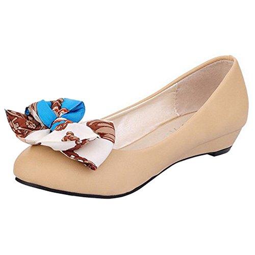 COOLCEPT Mujer Moda Cordones Court Zapatos En aumento Bombas Zapato Cerrado Zapatos (34 EU, Red)