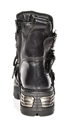 Rock Shoes Rockstar Boots Ankle Top Lace Hi New Cross Silver Design up A1407S1 Leather CqTnPtP