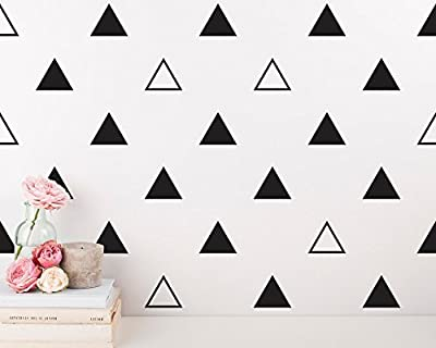 64 pcs/set 7cm Modern Vinyl Triangles Wall Decal Solid /Outline triangles Pattern Wall sticker DIY Home Decor Kids/ Children Room Decor Stickers