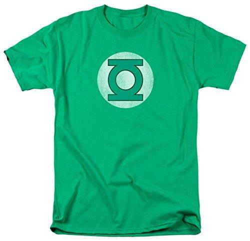 Green Lantern Distressed Logo Adult T-Shirt - Green (XXX-Large)
