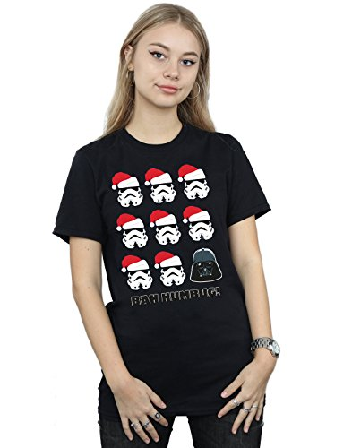 Christmas Mujer Camiseta Negro Star Wars Fit Humbug Del Novio q1ZxfU7