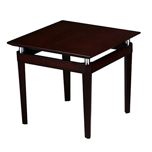 Mayline NTSMAH Napoli End Table with Metal Accents 24