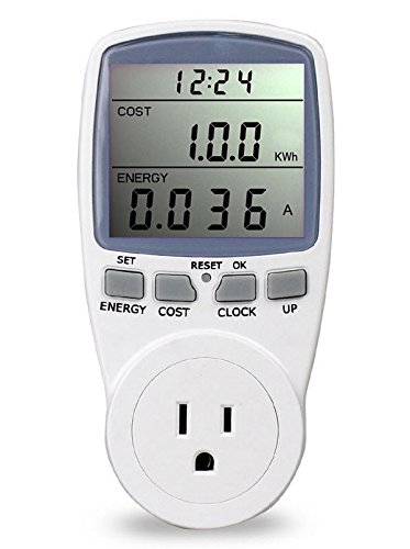 PPCS LCD US Plug Socket Energy Meter Electricity Watt Voltage Amps Usage Frequency Monitor Analyzer Power (Ppc Pc)