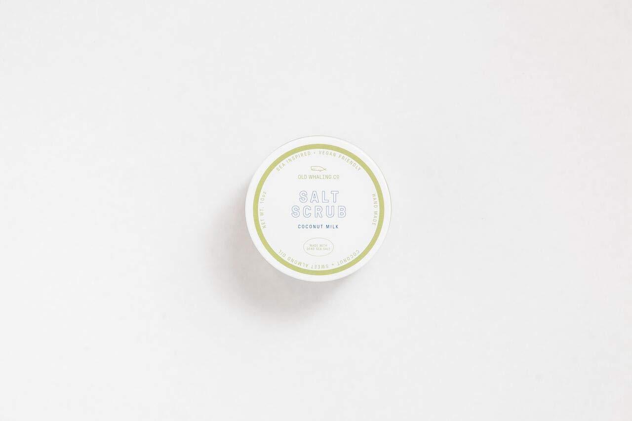 ONE Coconut Milk Salt Scrub || handmade salt scrub/dead sea salt/sweet almond oil/exfoliating / moisturizing/Charleston / coconut