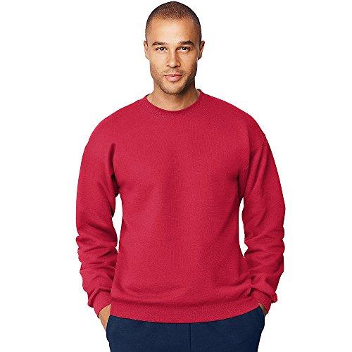 Hanes Men's Ultimate Cotton Heavyweight Crewneck Sweatshirt_Deep Red_XL