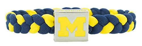 Glass-U NCAA Game Day Nylon Woven Bracelet - Michigan (Michigan Wolverines Stocking)