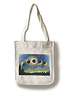 Solar Eclipse 2017 - Starry Night (100% Cotton Tote Bag - Reusable)