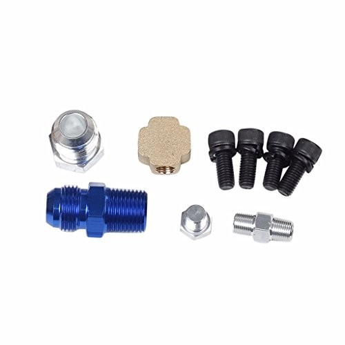 10 AN AN10 10-AN 10 feet Stainless Steel Braided Hose and Hose Fitting Kit